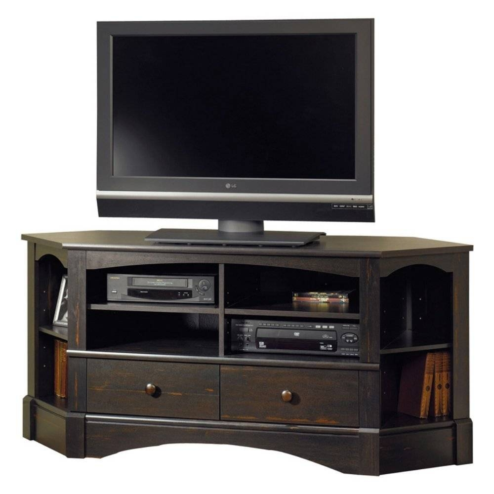 Which Is Best Corner Tv Stands Or Wall Mount Tv Stands regarding Triangular Tv Stand (Image 15 of 15)