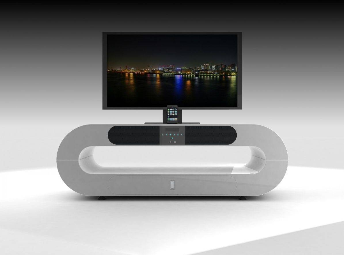 White Contemporary Tv Stand : All Contemporary Tv Stands Ideas with regard to Modern White Tv Stands (Image 15 of 15)