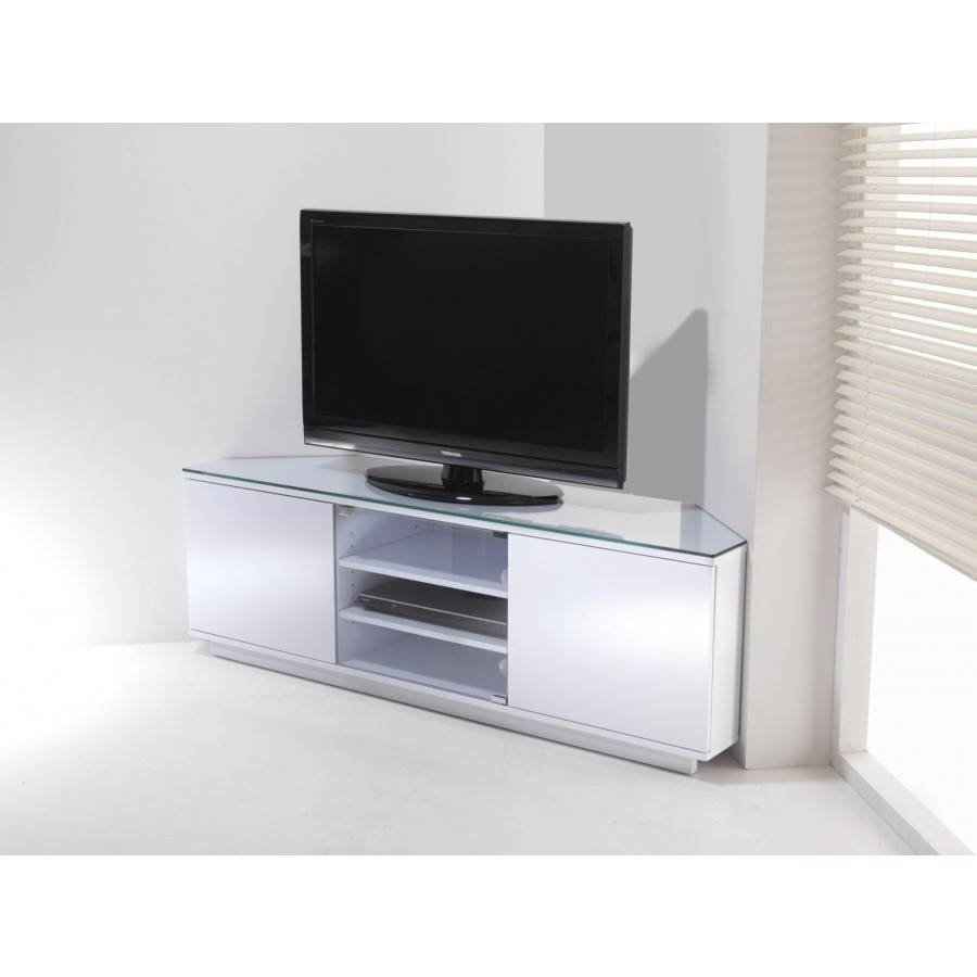 Featured Photo of White High Gloss Corner Tv Unit