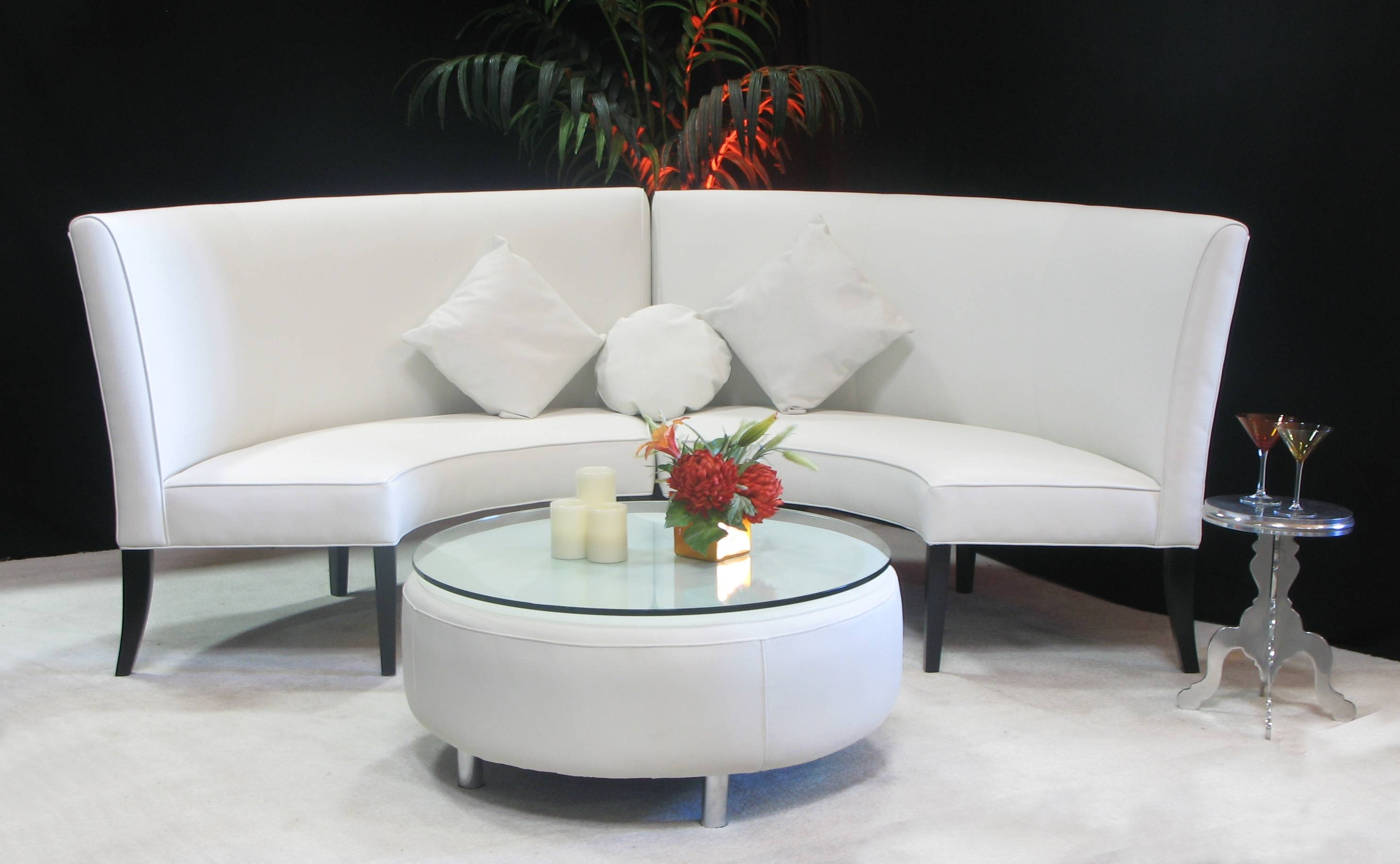 White High Back Slipper Sofa | Town & Country Event Rentals in Slipper Sofas (Image 15 of 15)