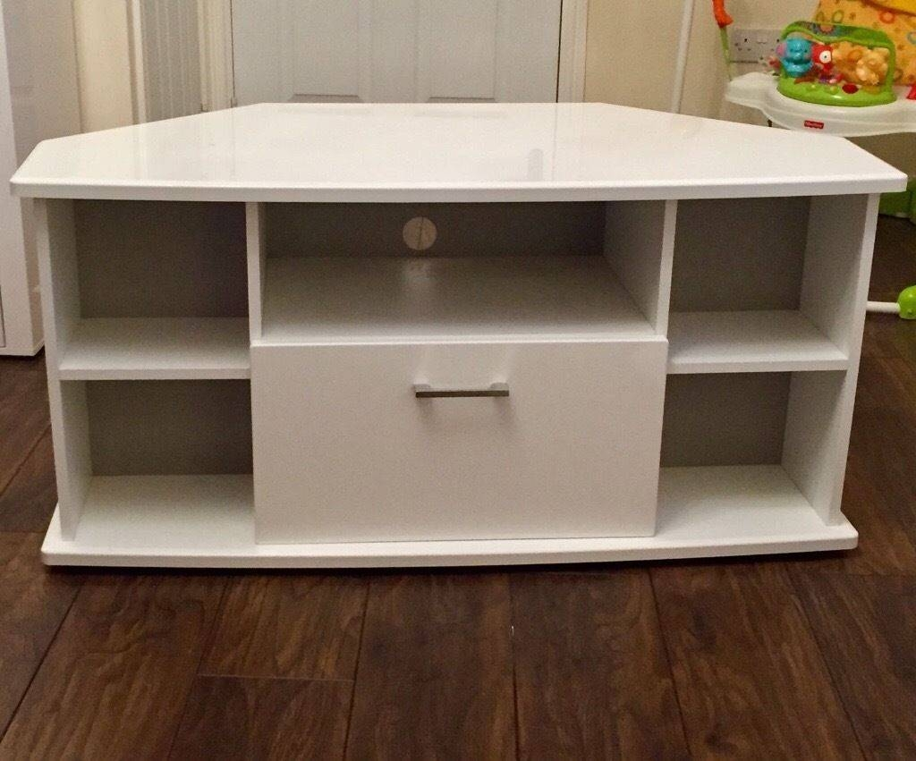 White High Gloss Corner Tv Unit | In Cambuslang, Glasgow | Gumtree regarding White High Gloss Corner Tv Unit (Image 15 of 15)