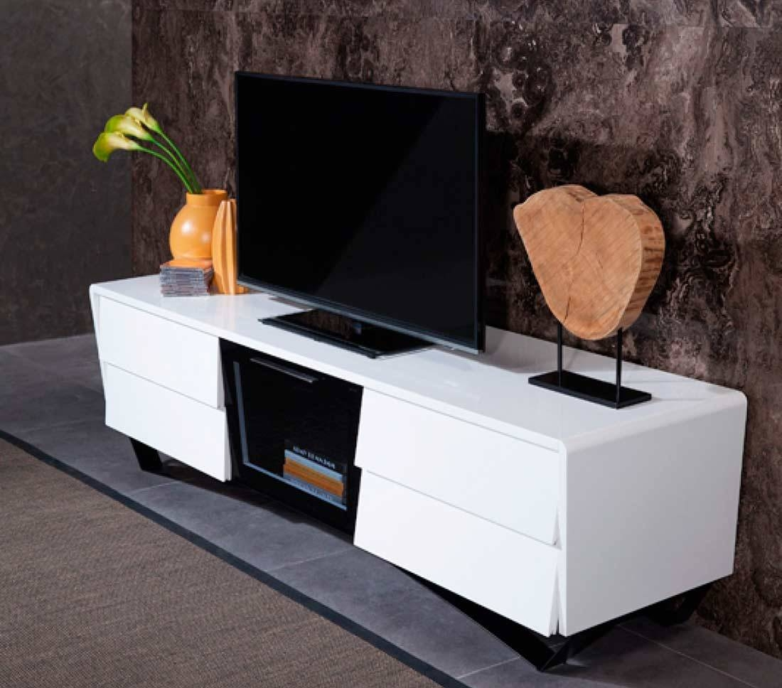 White High Gloss Tv Stand Vg 102 | Tv Stands Pertaining To High Gloss White Tv Stands (View 13 of 15)