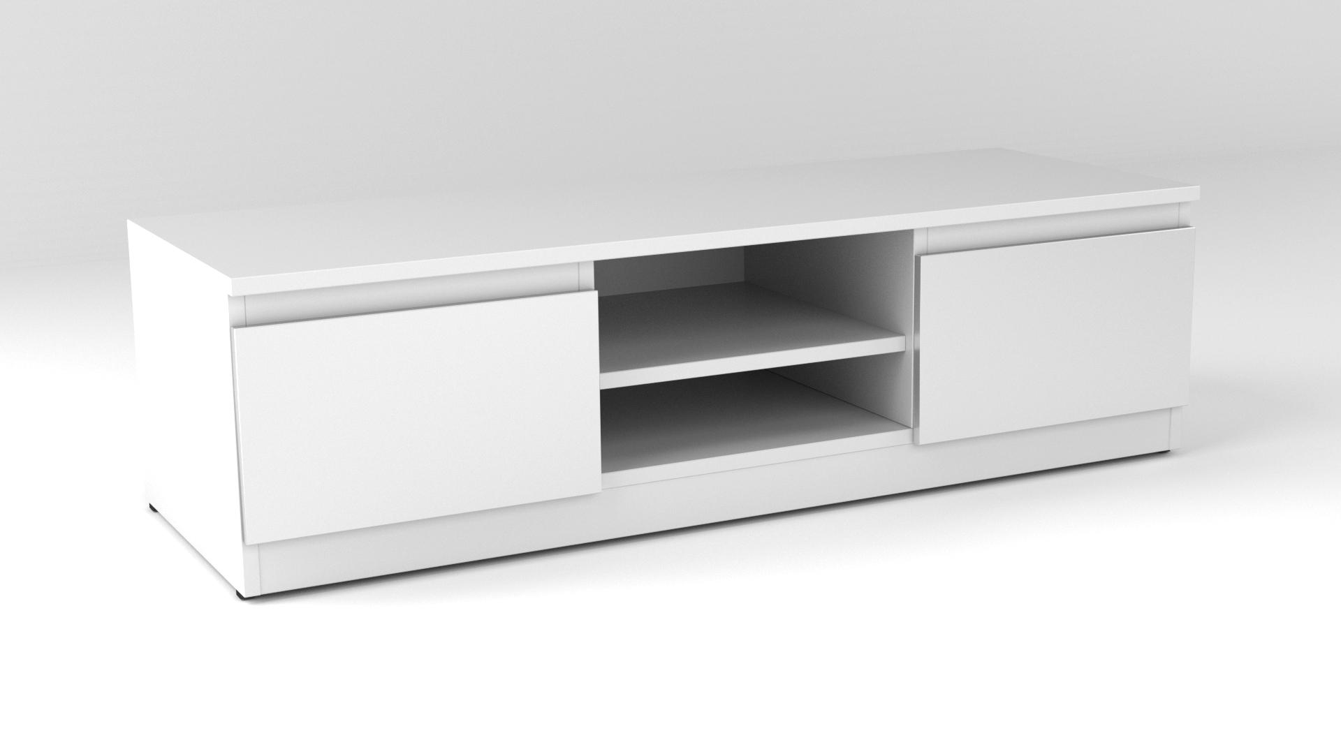 White Matt Modern Tv Cabinet - Code 35 in White Tv Cabinets (Image 15 of 15)