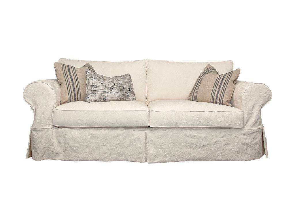 White Sofa Slipcover in Slip Covers For Love Seats (Image 15 of 15)