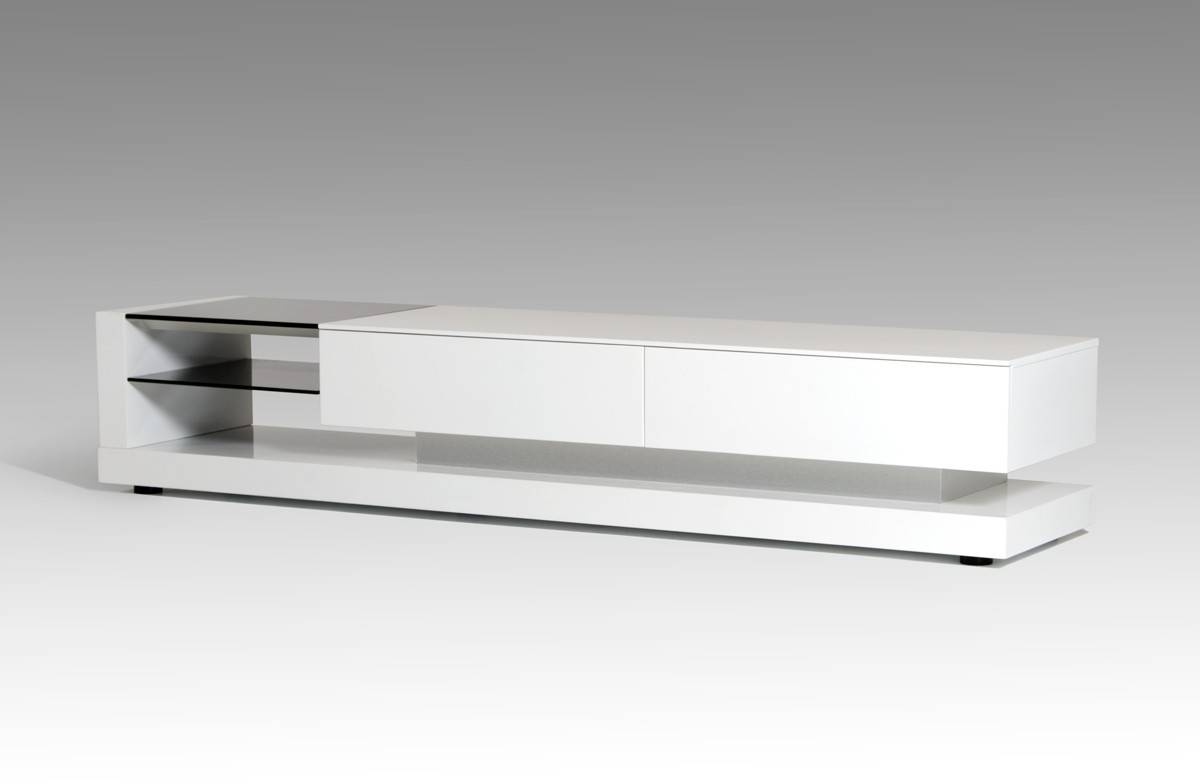 White Tv Stand And Long Tv Stand Also Modern Tv Stands Made Of Pertaining To Long White Tv Cabinets (Photo 5 of 15)