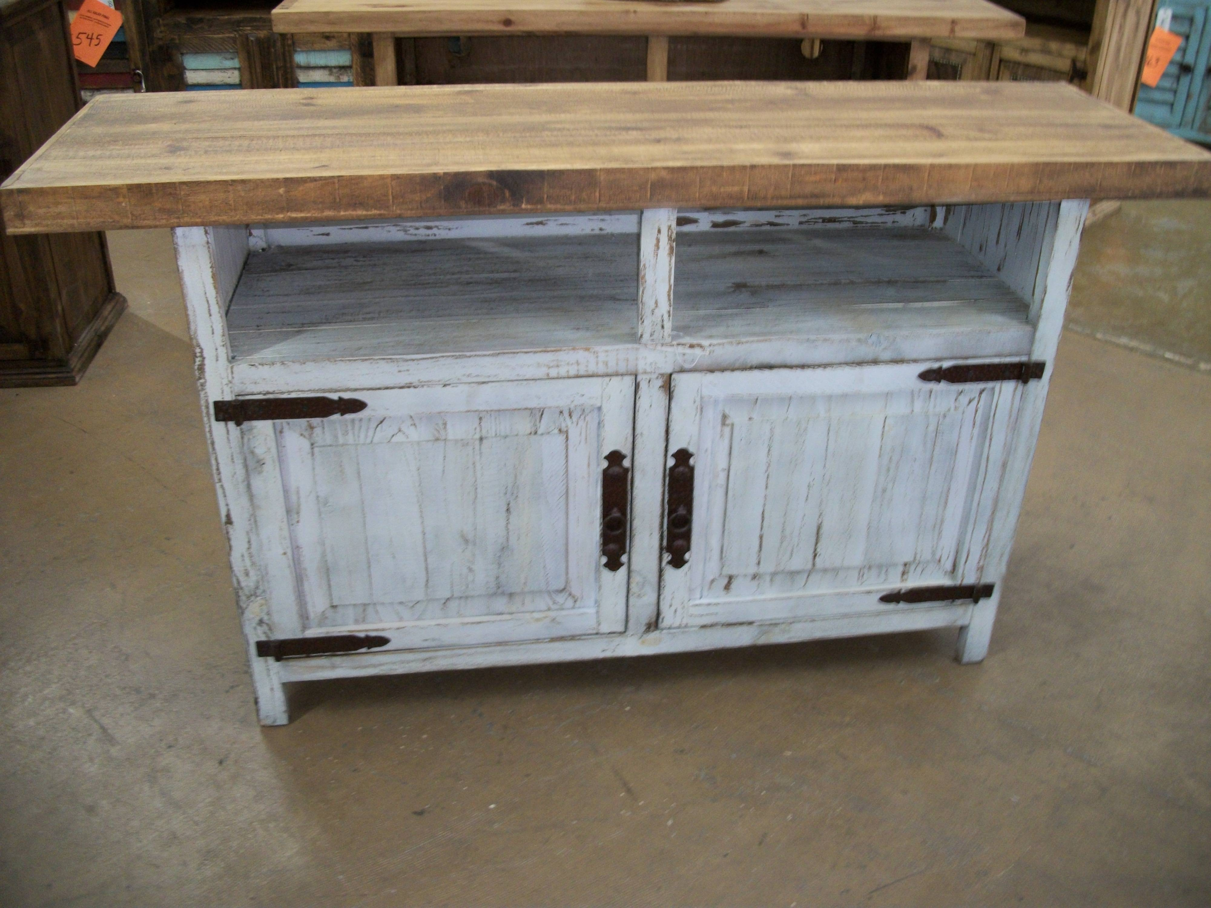 Showing Gallery Of Rustic White Tv Stands View 10 Of 15 Photos