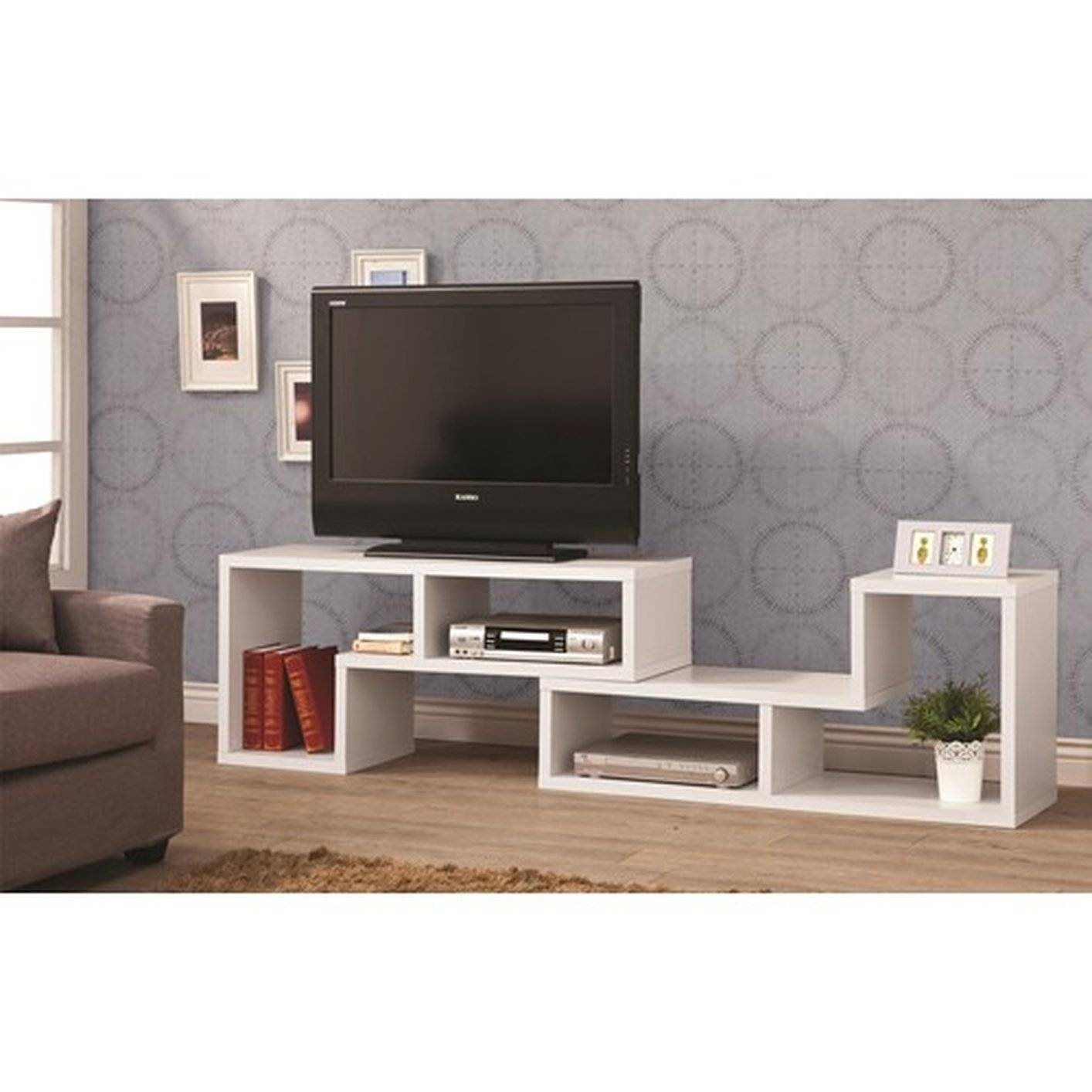 White Wood Tv Stand - Steal-A-Sofa Furniture Outlet Los Angeles Ca for Modern Wooden Tv Stands (Image 15 of 15)