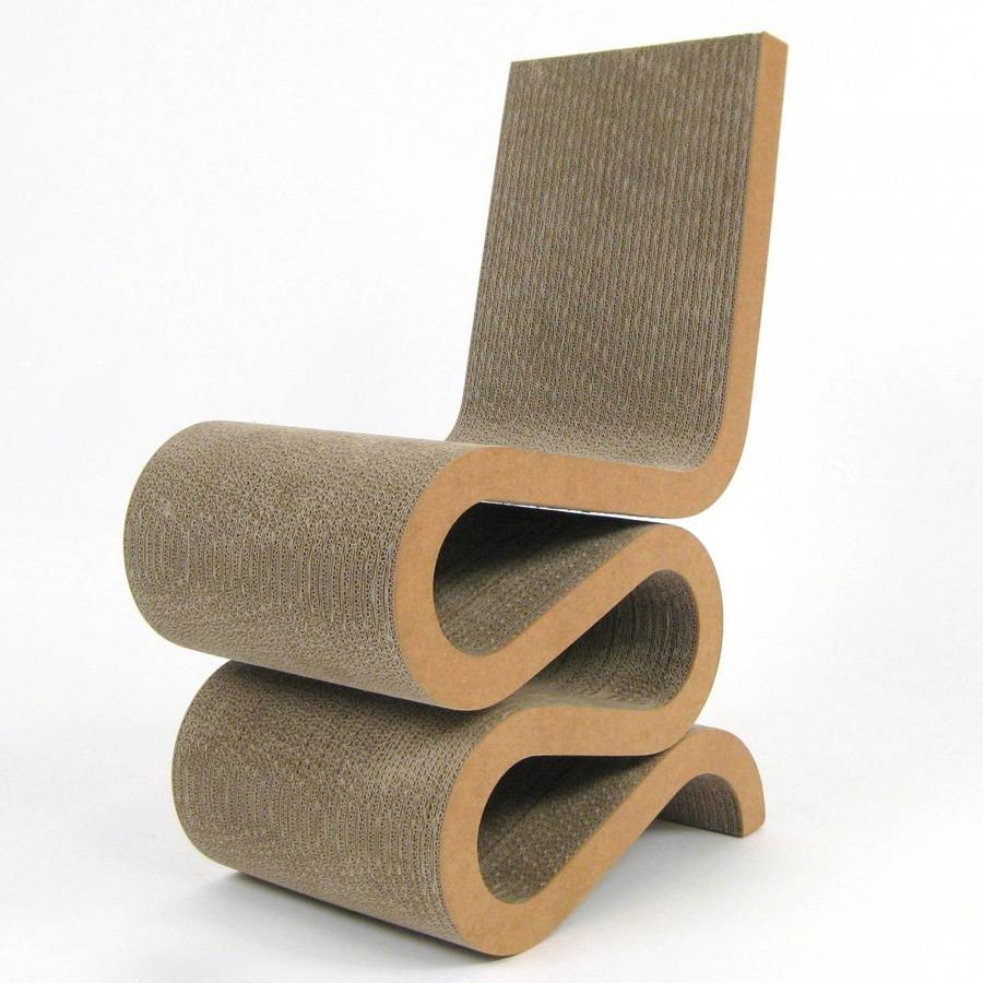 Wiggle Frank Gehry's Wiggle Chair Masterpiece - Cardboard Chair with regard to Cardboard Sofas (Image 15 of 15)