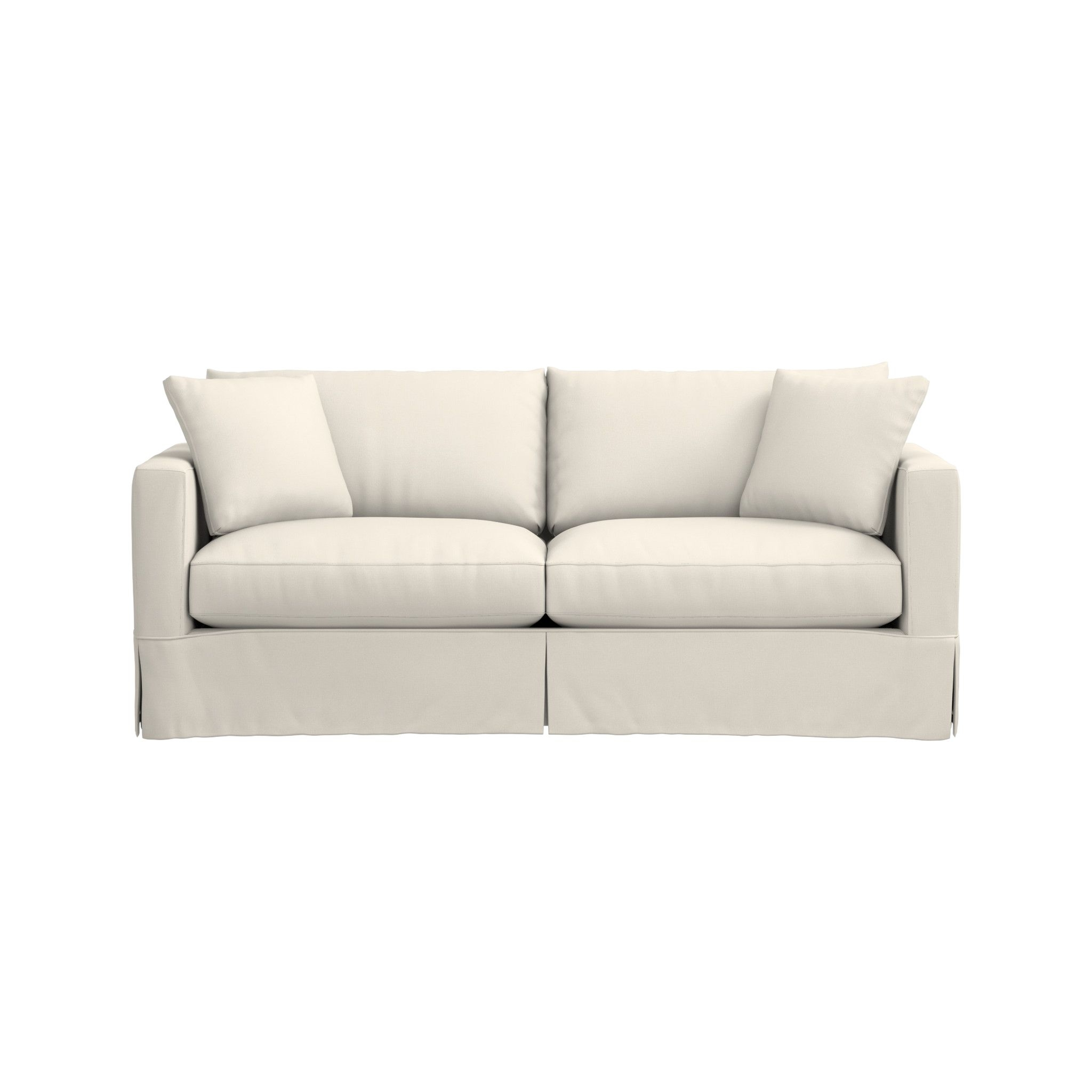 Willow White Sleeper Couch | Crate And Barrel pertaining to Crate And Barrel Sleeper Sofas (Image 15 of 15)