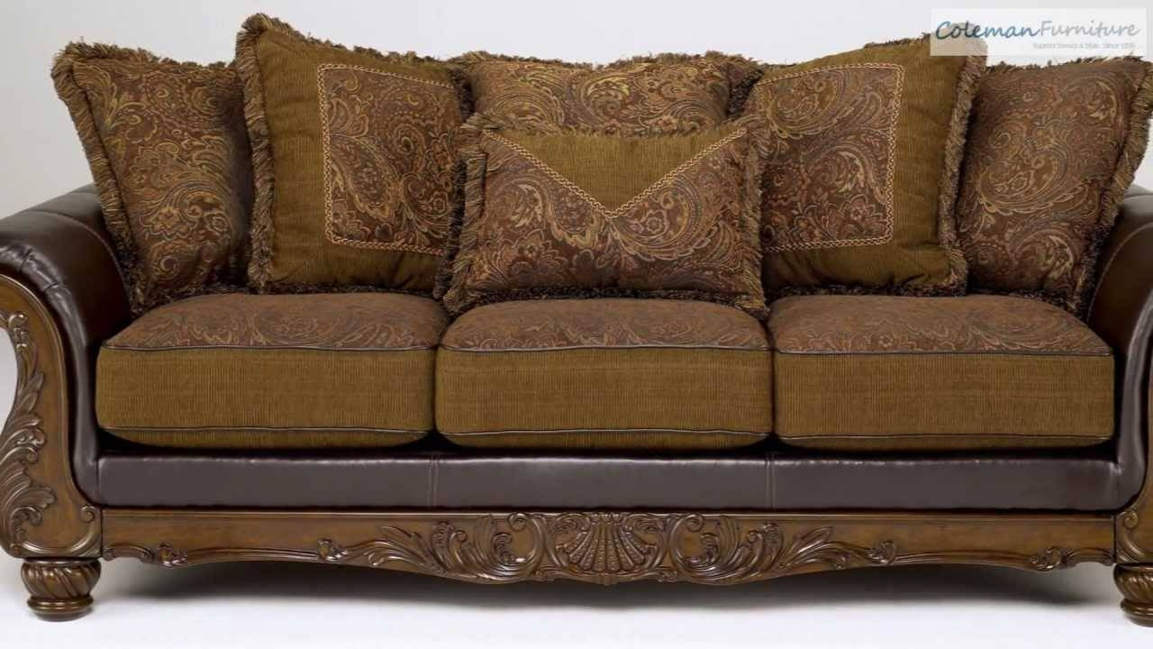 Wilmington Walnut Living Room Collection From Signature Design throughout Bradington Truffle (Image 15 of 15)