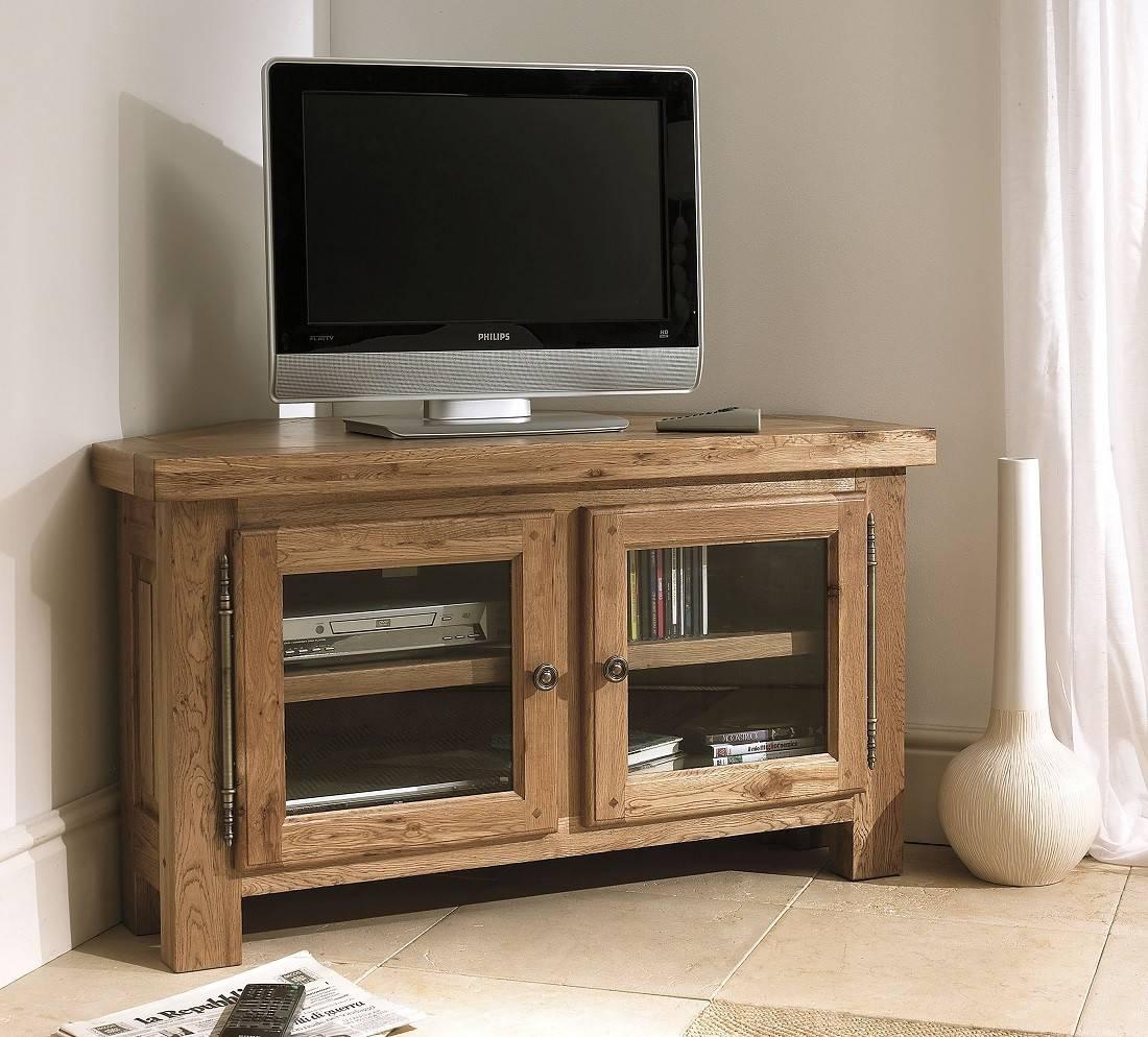 Windermere Solid Oak Corner Tv Cabinet | Oak Furniture Uk In Wood Corner Tv Cabinets (View 13 of 15)