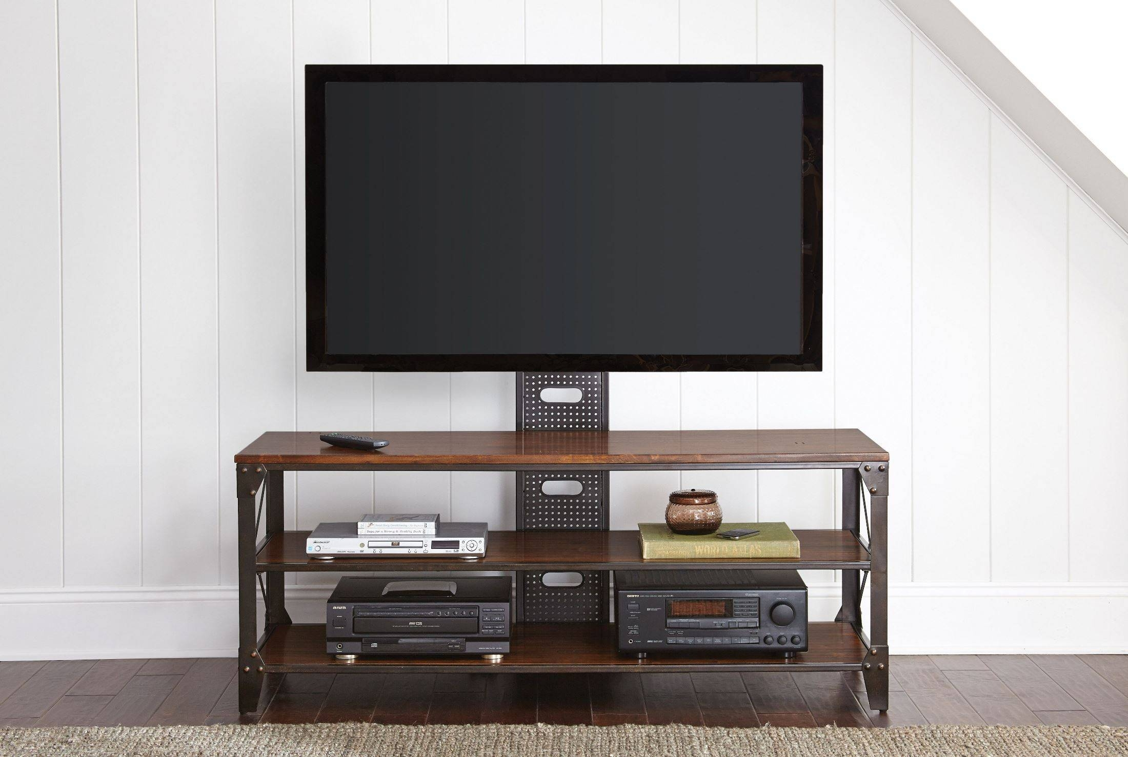 Winston Industrial Tv Stand From Steve Silver (wn500tv) | Coleman Throughout Silver Tv Stands (View 11 of 15)
