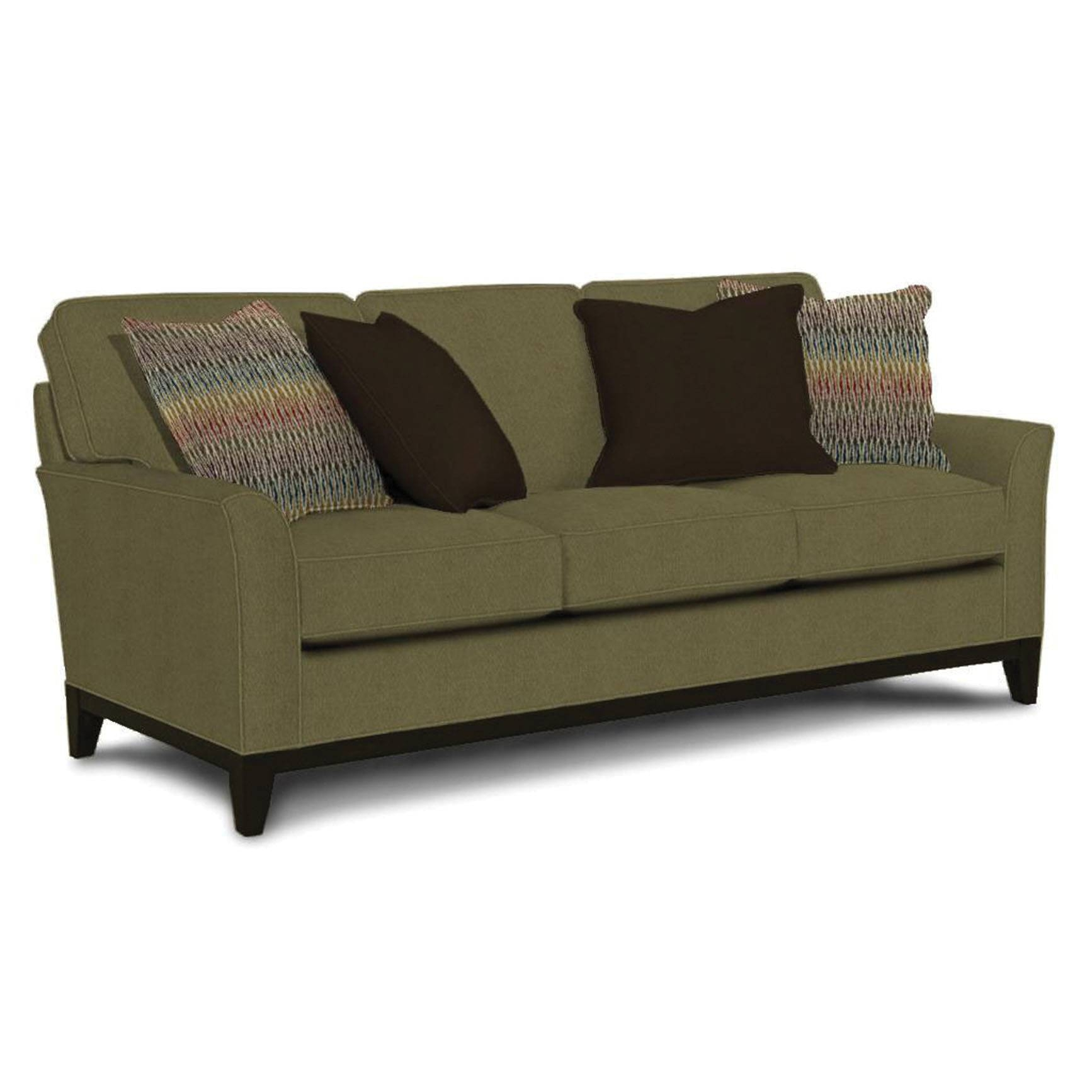 Wood Accent Sofa | Carolina Rustica regarding Broyhill Perspectives Sofas (Image 15 of 15)