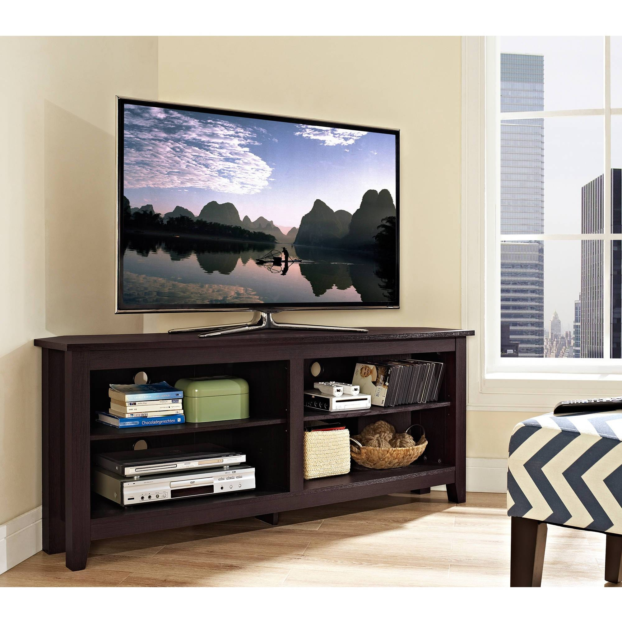 "Wood Corner Tv Console For Tvs Up To 60"", Multiple Colors pertaining to Corner Tv Stands For 60 Inch Tv (Image 15 of 15)"