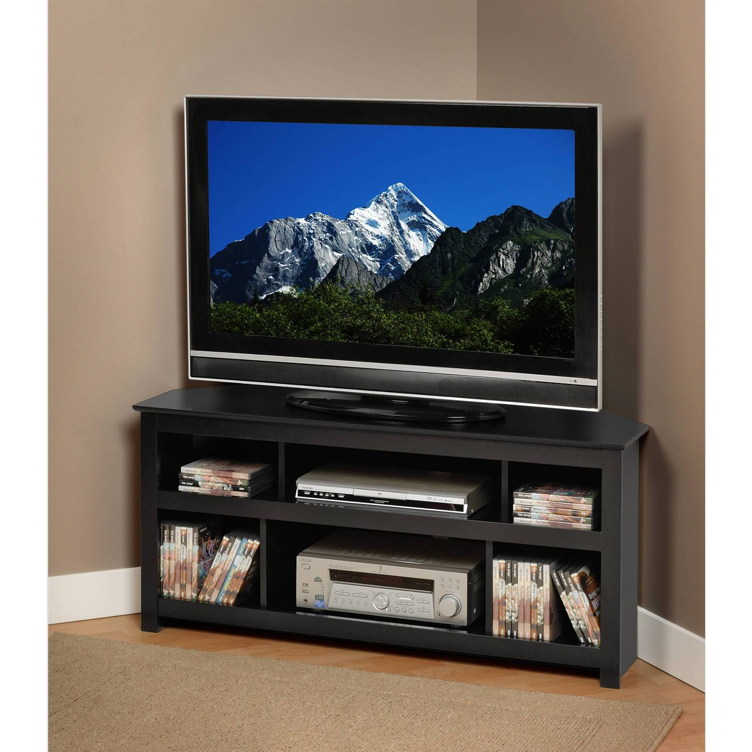 "Wood Corner Tv Fireplace Tv Stand For Tvs Up To 52"", Multiple For Tv Stands For Corner (View 11 of 15)"