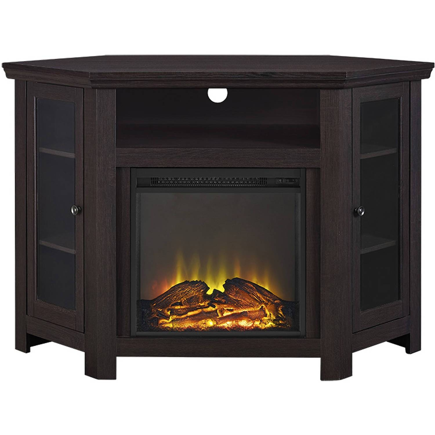"Wood Corner Tv Fireplace Tv Stand For Tvs Up To 52"", Multiple within Large Corner Tv Stands (Image 14 of 15)"