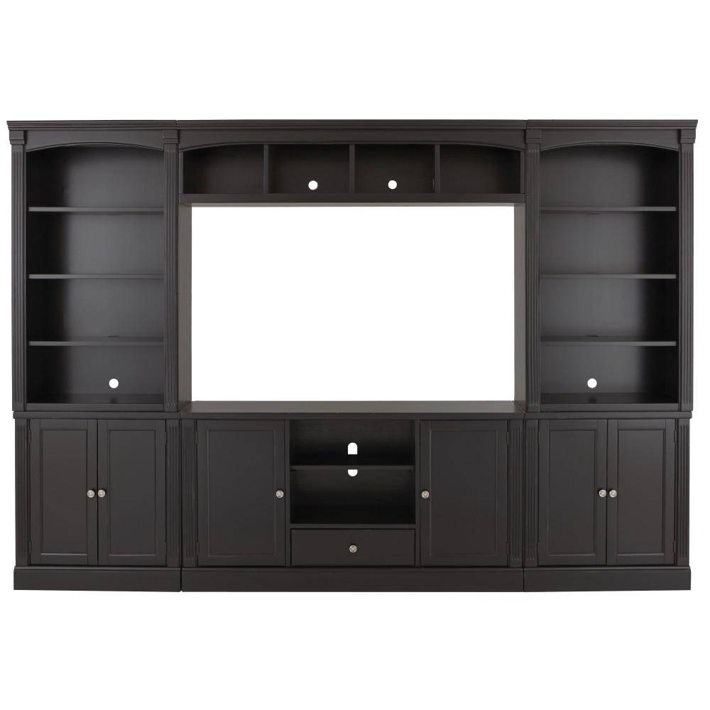 Wood - Tv Stands - Living Room Furniture - The Home Depot pertaining to White And Wood Tv Stands (Image 15 of 15)