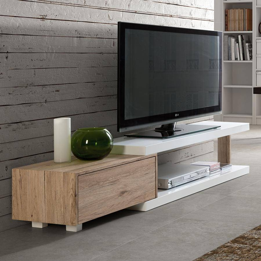 Wood Tv Units | Living Room Furniture | Modern Furniture with Contemporary Oak Tv Stands (Image 15 of 15)