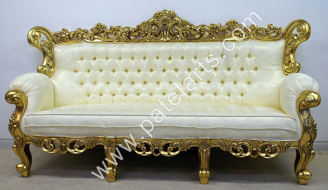 Elegant Wooden Sofa Sets, Indian Carved Sofa Sets, Carving Wooden Sofa Intended For Carved  Wood