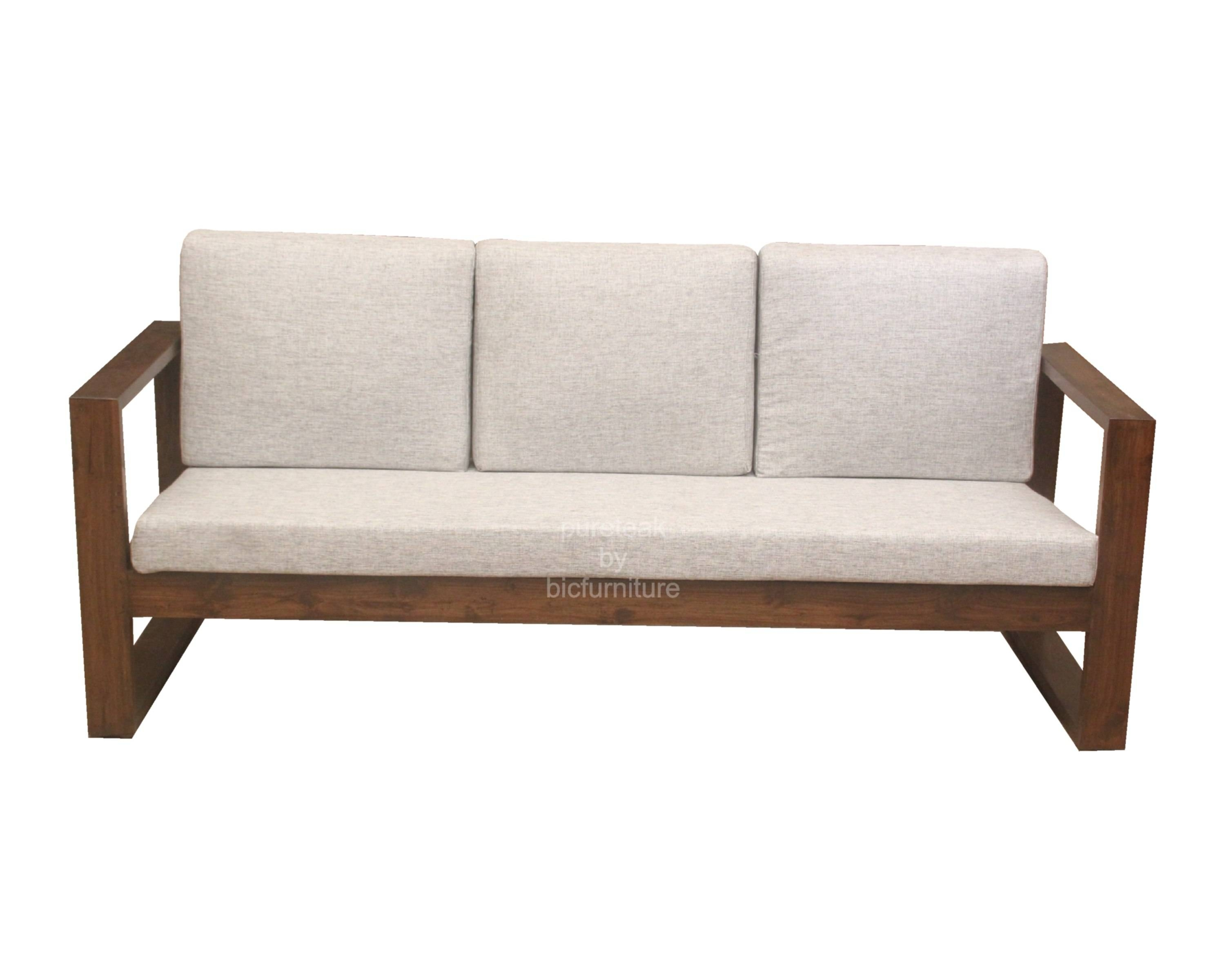 Wooden Sofas Images | Kashiori Wooden Sofa, Chair, Bookshelves with regard to Simple Sofas (Image 15 of 15)
