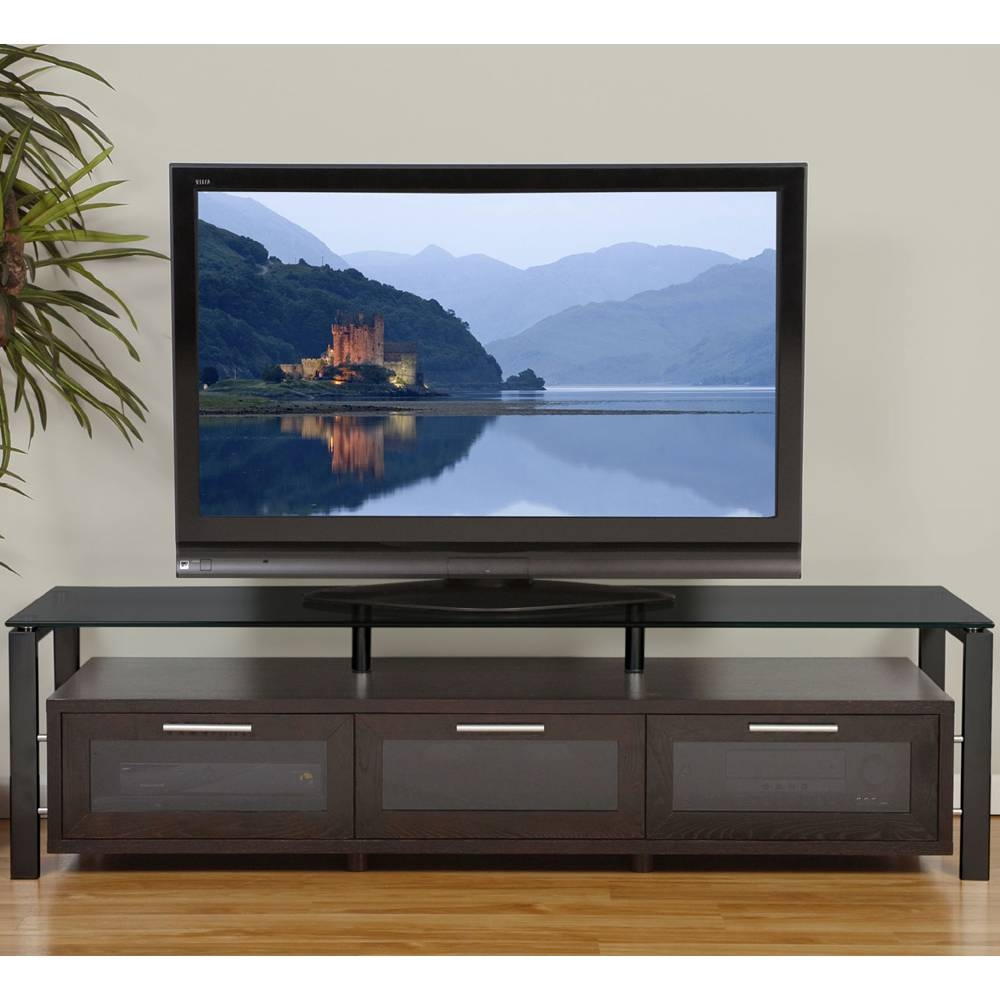 Wooden Tv Entertainment Center In Tv Stands With Long Tv Cabinets Furniture (View 15 of 15)