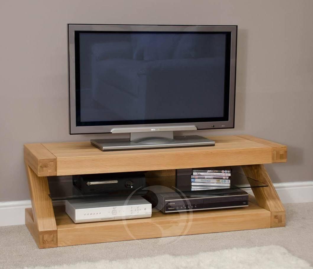 Z Shape Solid Oak Plasma Tv Unit | Oak Furniture Uk with Solid Oak Tv Cabinets (Image 15 of 15)