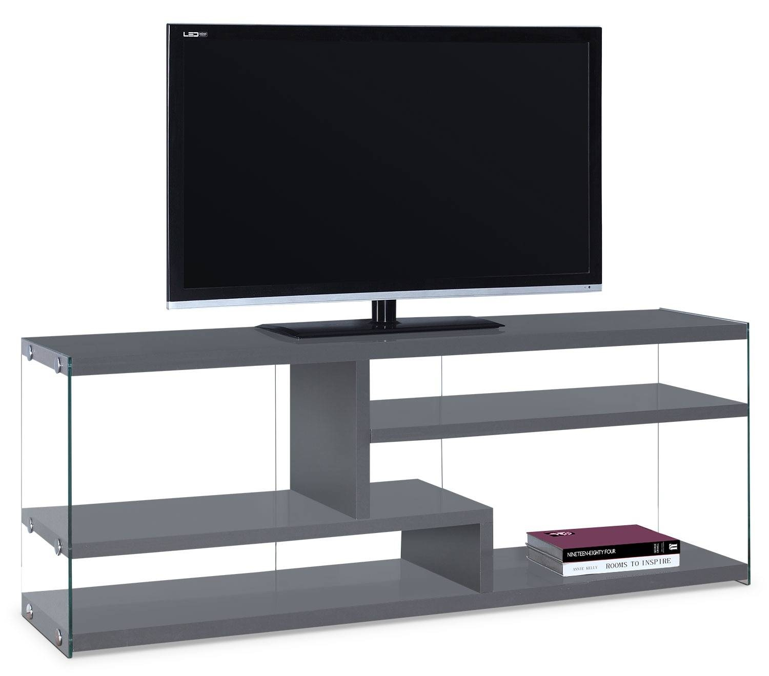 Zara Tv Stand - Grey | Leon's in Grey Tv Stands (Image 15 of 15)
