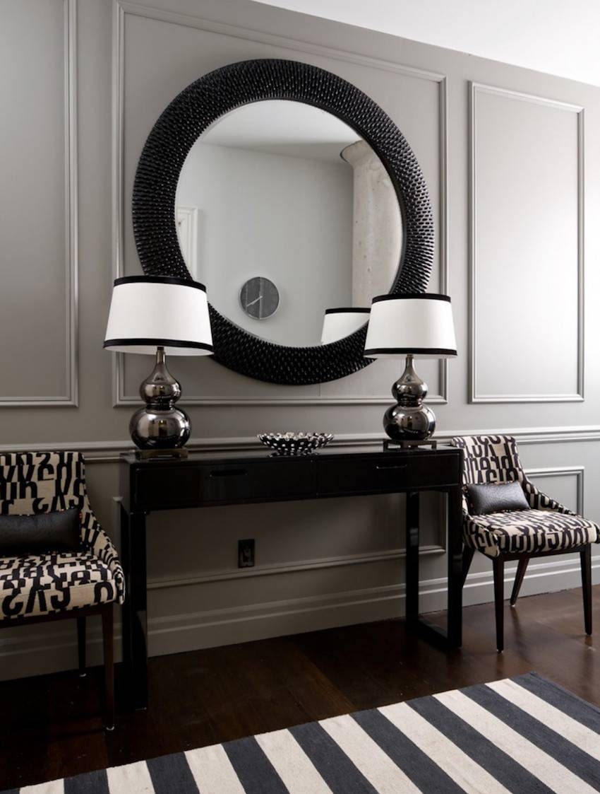 10 Stunning Black Wall Mirror Ideas To Decorate Your Home with regard to Long Black Wall Mirrors (Image 1 of 15)