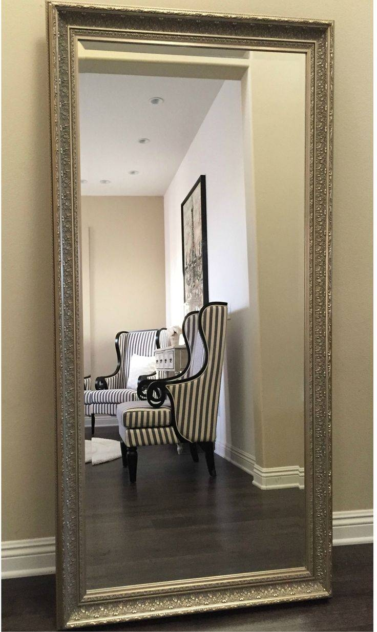18 Best Floor Mirrors Images On Pinterest | Floor Mirrors, Wall Throughout Champagne Silver Mirrors (View 1 of 15)