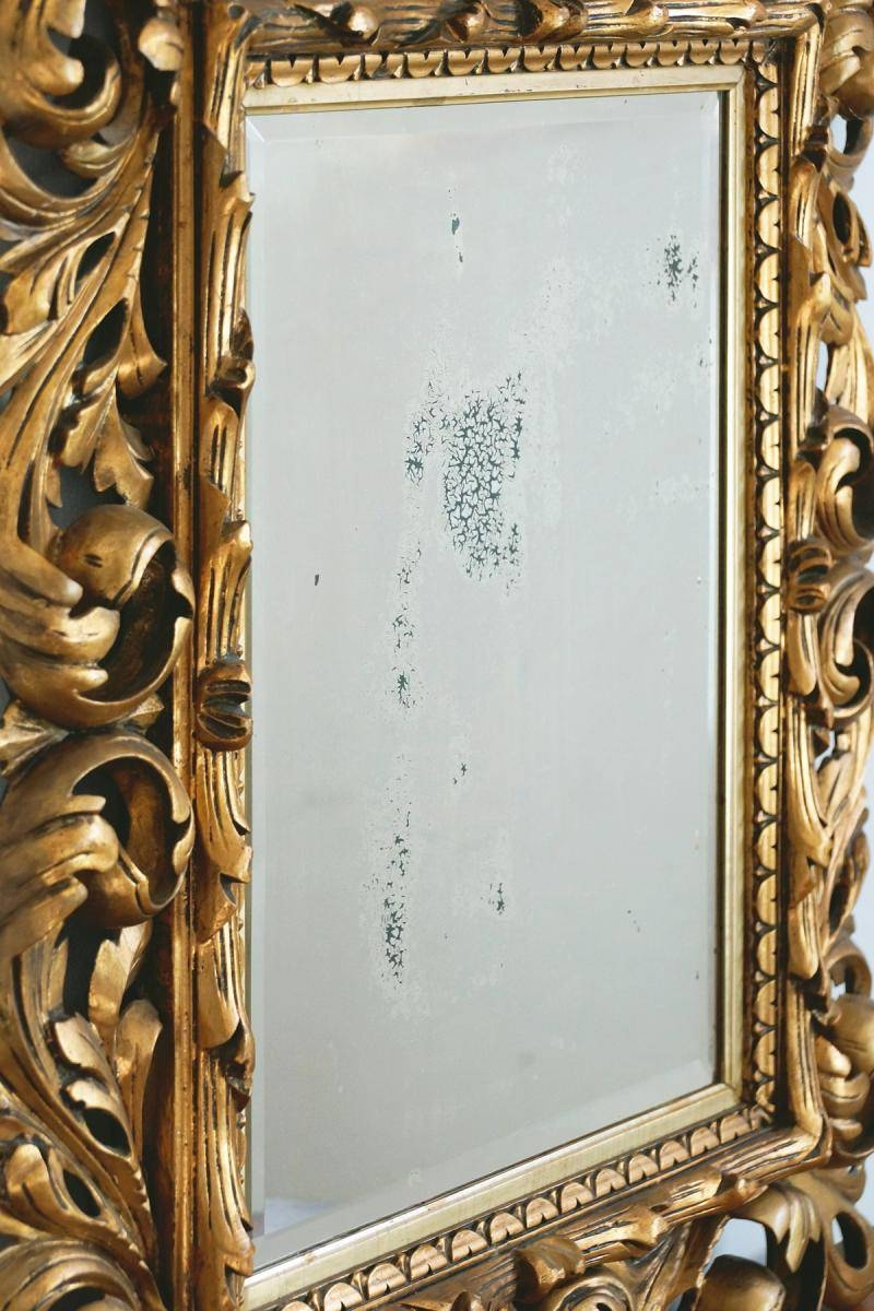 18th Century Baroque Mirror With Carved Wooden Frame For Sale At Intended For Baroque Gold Mirrors (View 13 of 15)