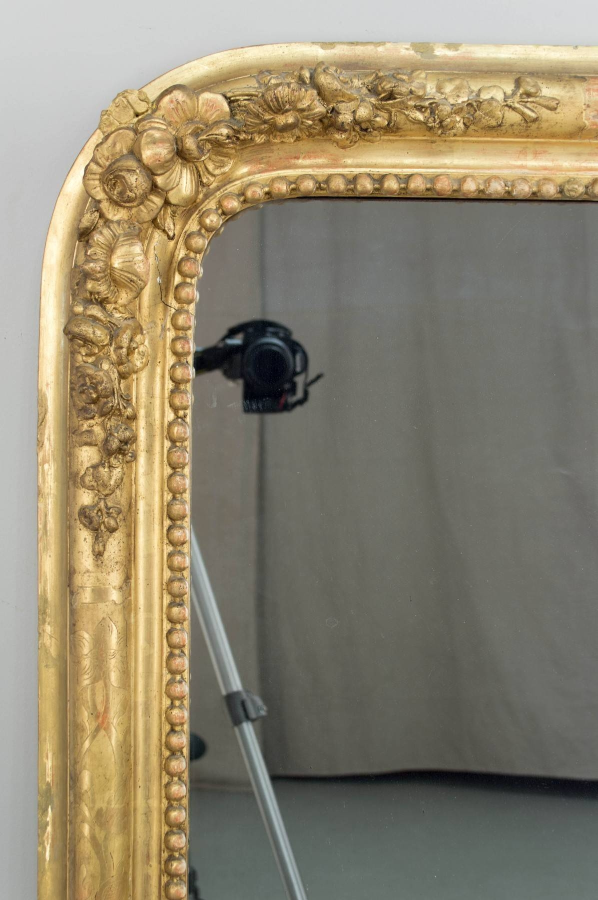 19Th Century French Gilt Mirror – Palm Beach Art, Antique & Design intended for French Gilt Mirrors (Image 1 of 15)