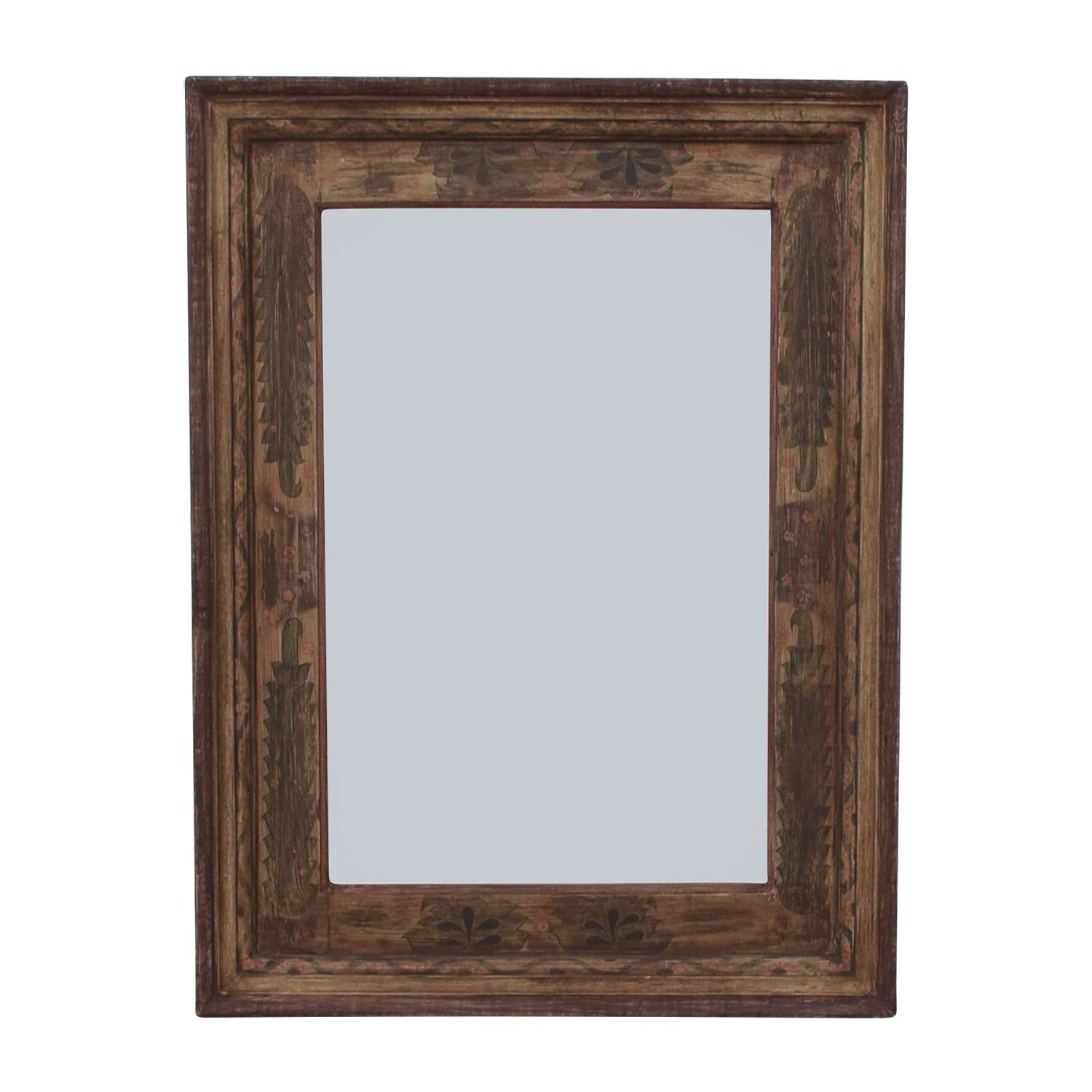 56% Off   Pottery Barn Pottery Barn Painted Wooden Mirror / Decor In Wooden Mirrors (Photo 1 of 15)