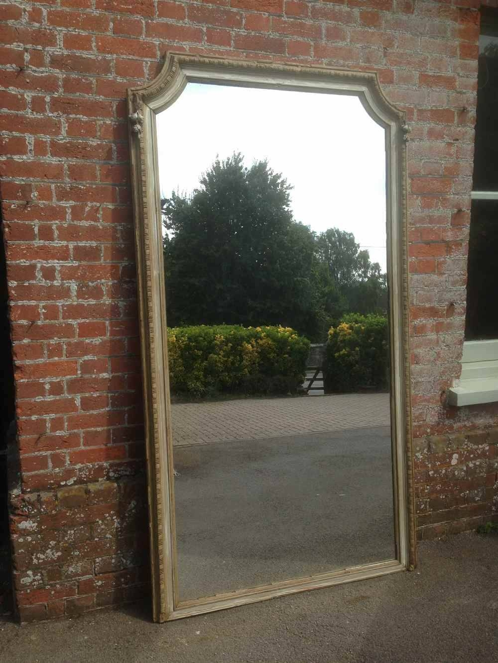 A Stunning Extra Large Antique 19Th Century French Carved Wood regarding Large Vintage Floor Mirrors (Image 1 of 15)