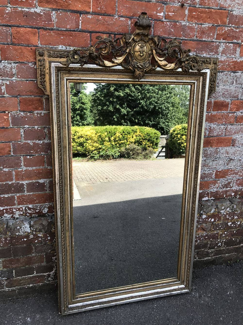 A Stunning Large Antique 19th Century French Carved Wood And Gesso Pertaining To Large Silver Gilt Mirrors (View 15 of 15)