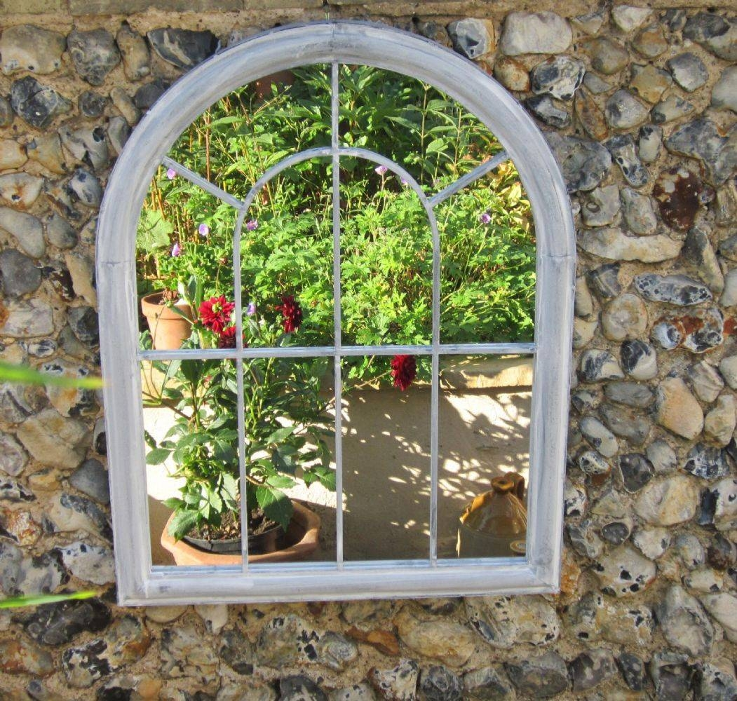 15 best ideas of outside garden mirrors for Outdoor mirror ideas