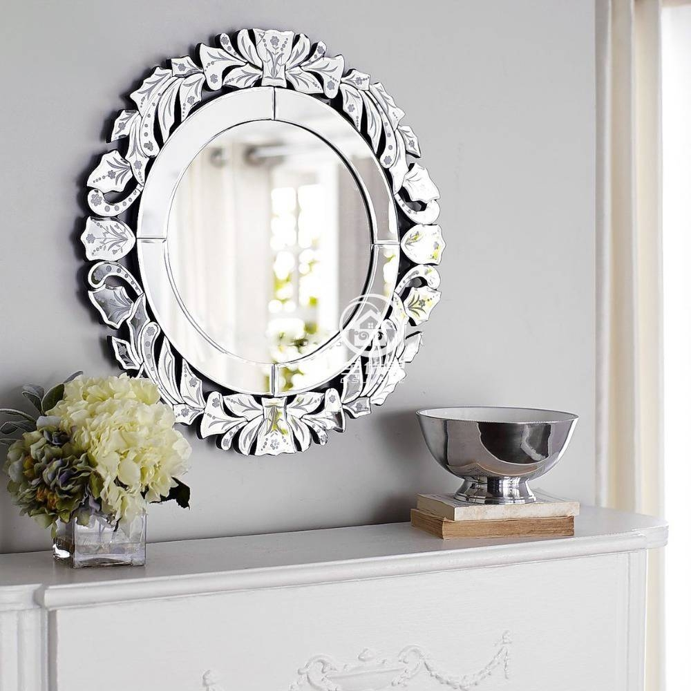 Aliexpress : Buy Modern Round Wall Mirror Glass Console Mirror Throughout Round Venetian Mirrors (View 10 of 15)