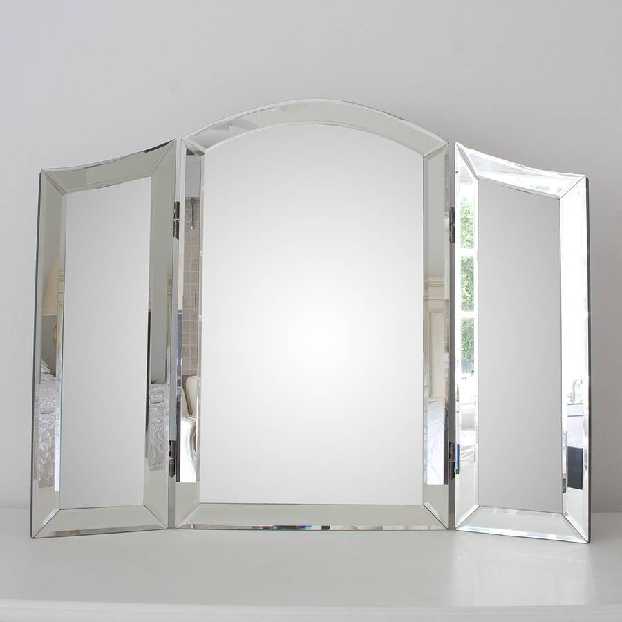All Glass Dressing Table Mirrordecorative Mirrors Online for Decorative Table Mirrors (Image 1 of 15)
