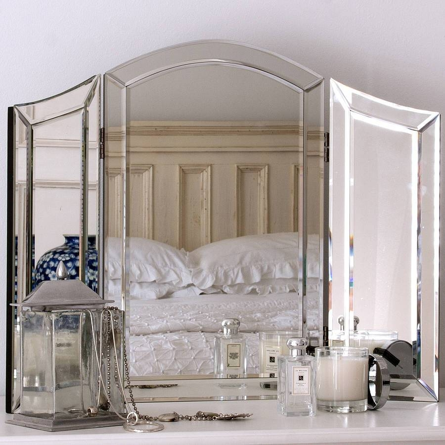 All Glass Dressing Table Mirrordecorative Mirrors Online intended for Decorative Table Mirrors (Image 2 of 15)