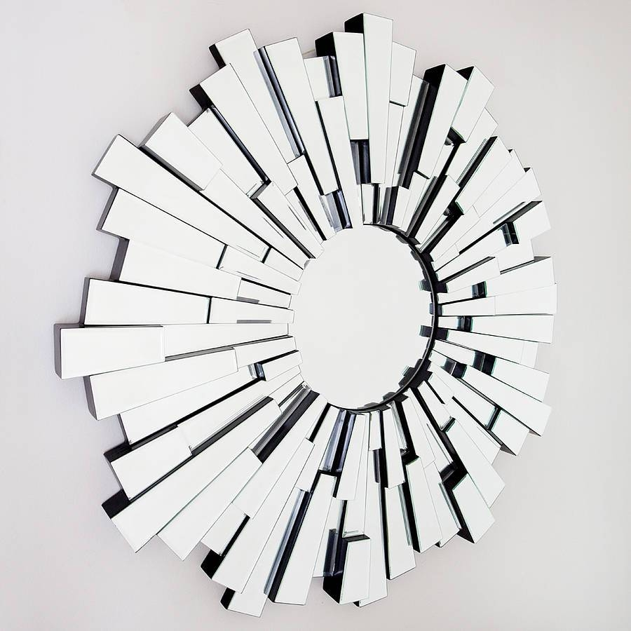 All Glass Round Contemporary Mirrordecorative Mirrors Online For Round Contemporary Mirrors (View 12 of 15)