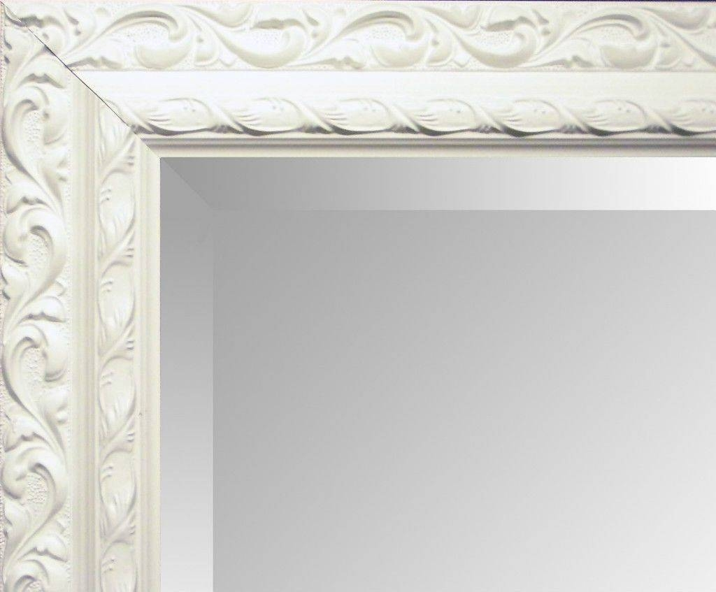 Antique Cream Ornate Shabby Chic Wall Mirror - Choose Your Size for Antique Cream Wall Mirrors (Image 2 of 15)