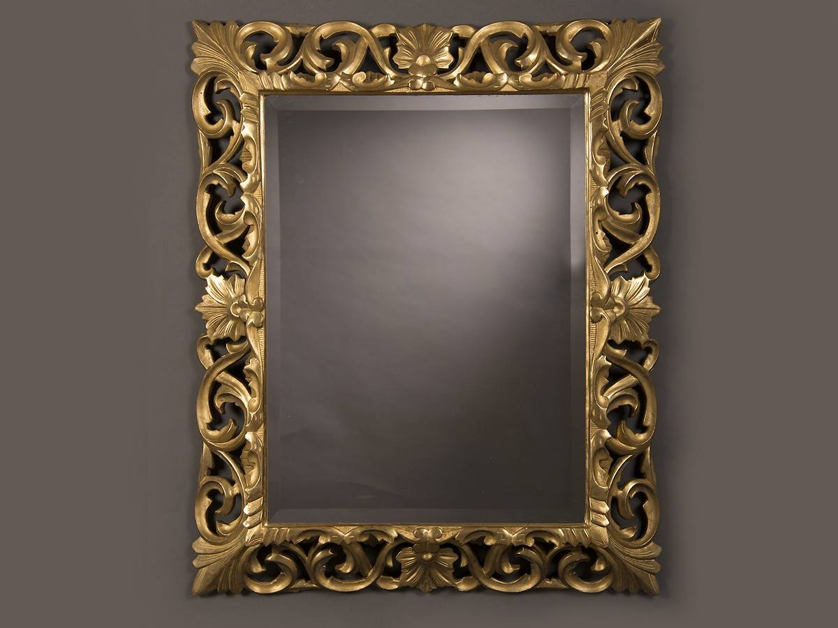 Antique French Baroque Style Gold Beveled Mirror, 1875 (35 1/2″w X pertaining to Baroque Gold Mirrors (Image 4 of 15)