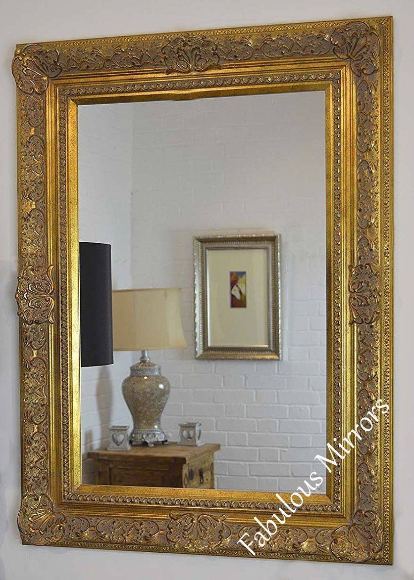 Antique Gold Wall Mirror – Full Range Of Sizes And Frame Colours Intended For Gold Wall Mirrors (View 15 of 15)