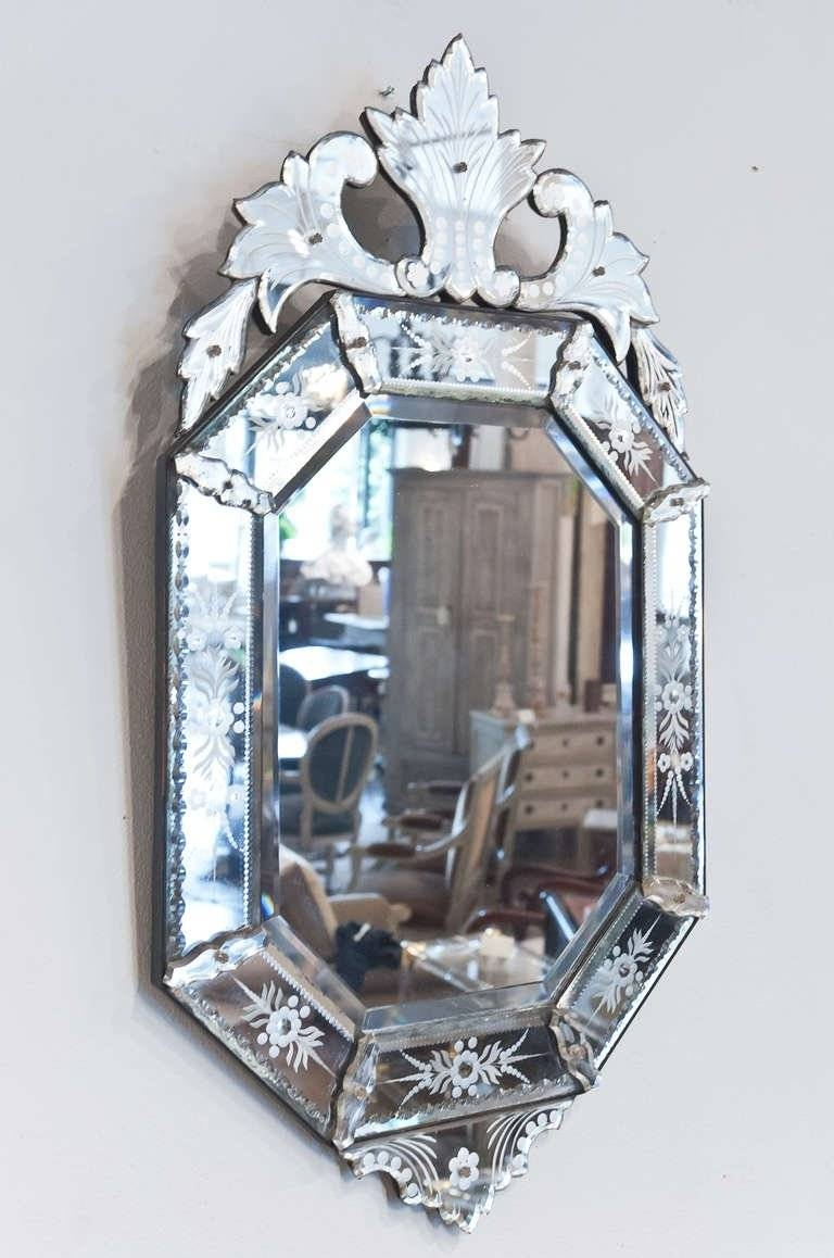 Antique Venetian Glass Mirror At 1stdibs In Venetian Glass Mirrors (View 1 of 15)