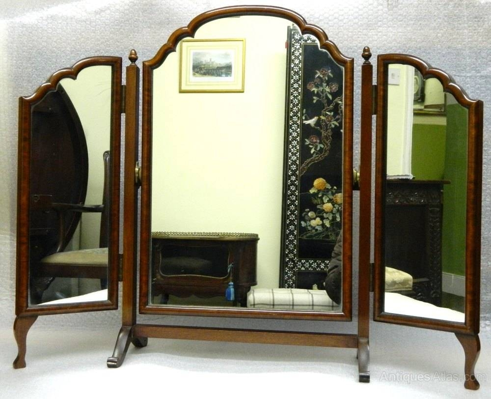 Antiques Atlas - Mahogany Triple Dressing Table Mirror within Antique Triple Mirrors (Image 3 of 15)