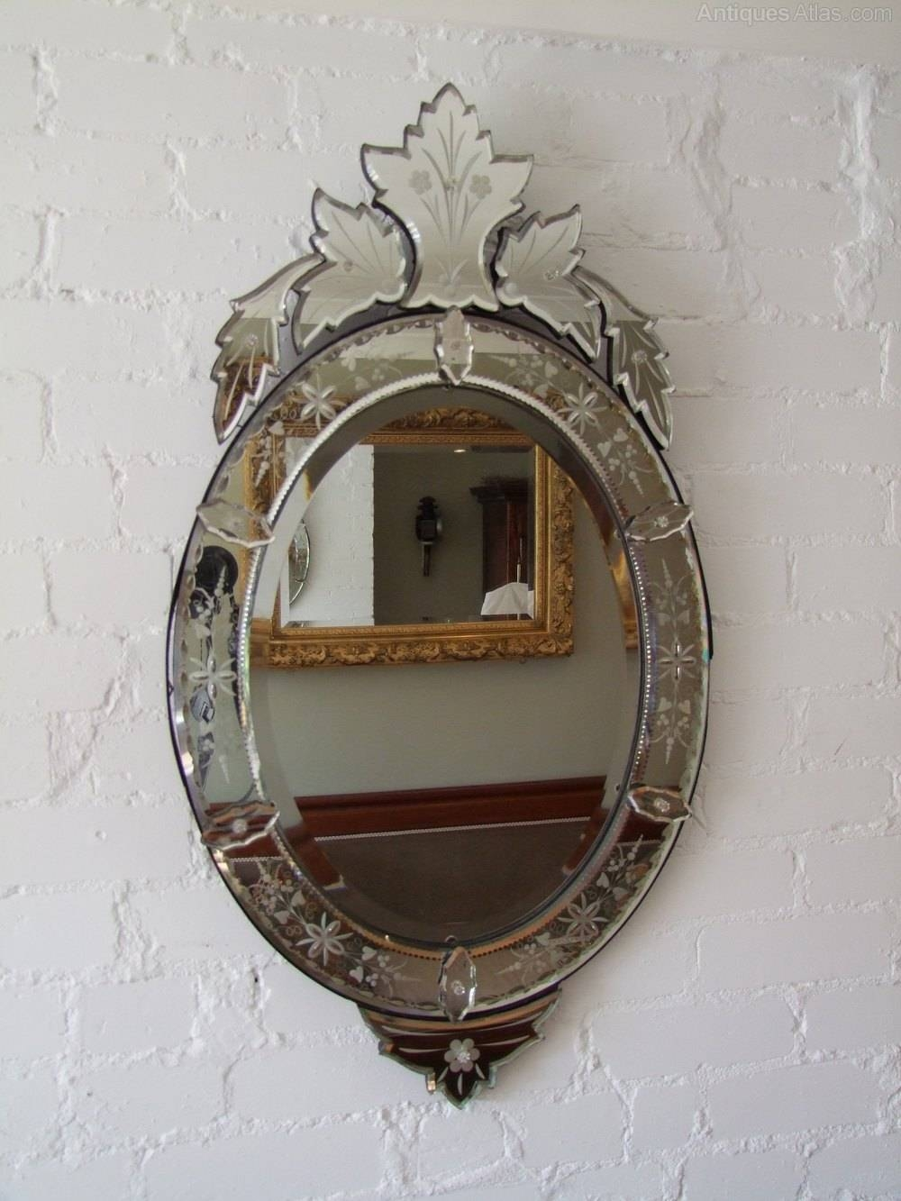 Antiques Atlas – Oval Venetian Mirror Within Venetian Oval Mirrors (View 7 of 15)