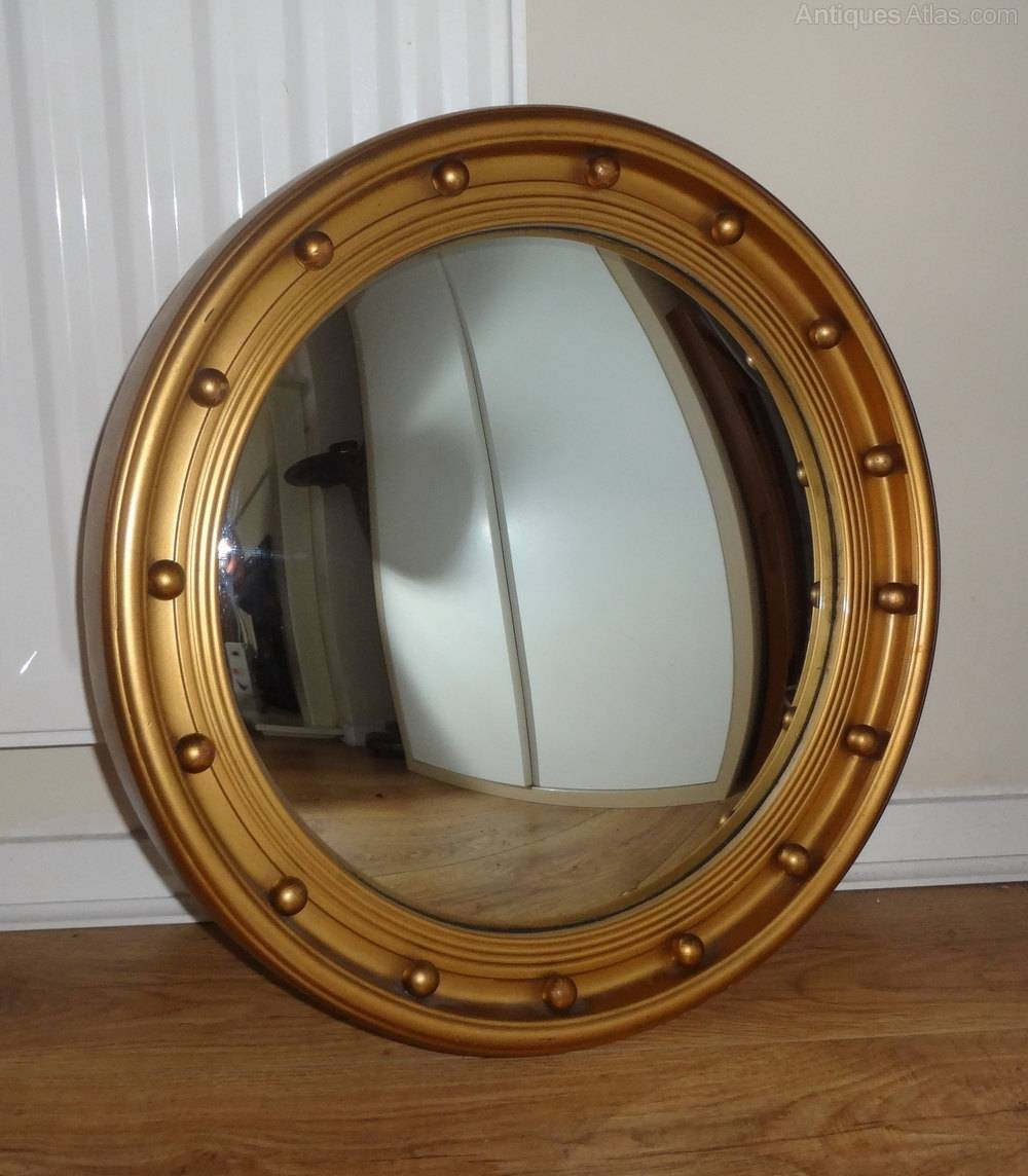 Antiques Atlas - Vintage Convex Mirror throughout Convex Wall Mirrors (Image 4 of 15)