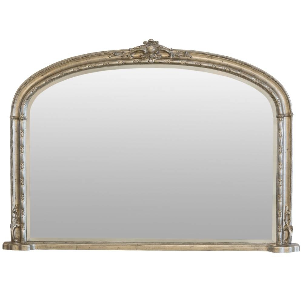 Arch Top Overmantle Silver Mirror | Mirrors.ie regarding Over Mantel Mirrors (Image 1 of 15)