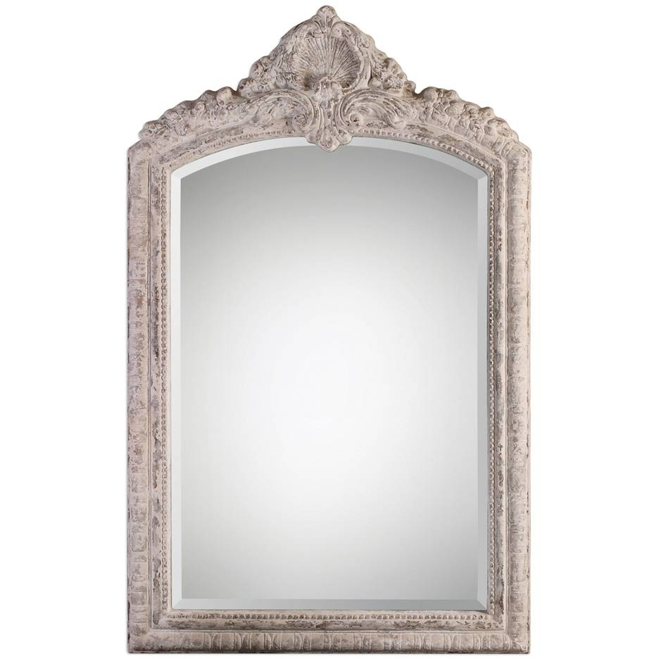 Arched French Shabby Chic Mirror - Vintage French within French Chic Mirrors (Image 4 of 15)