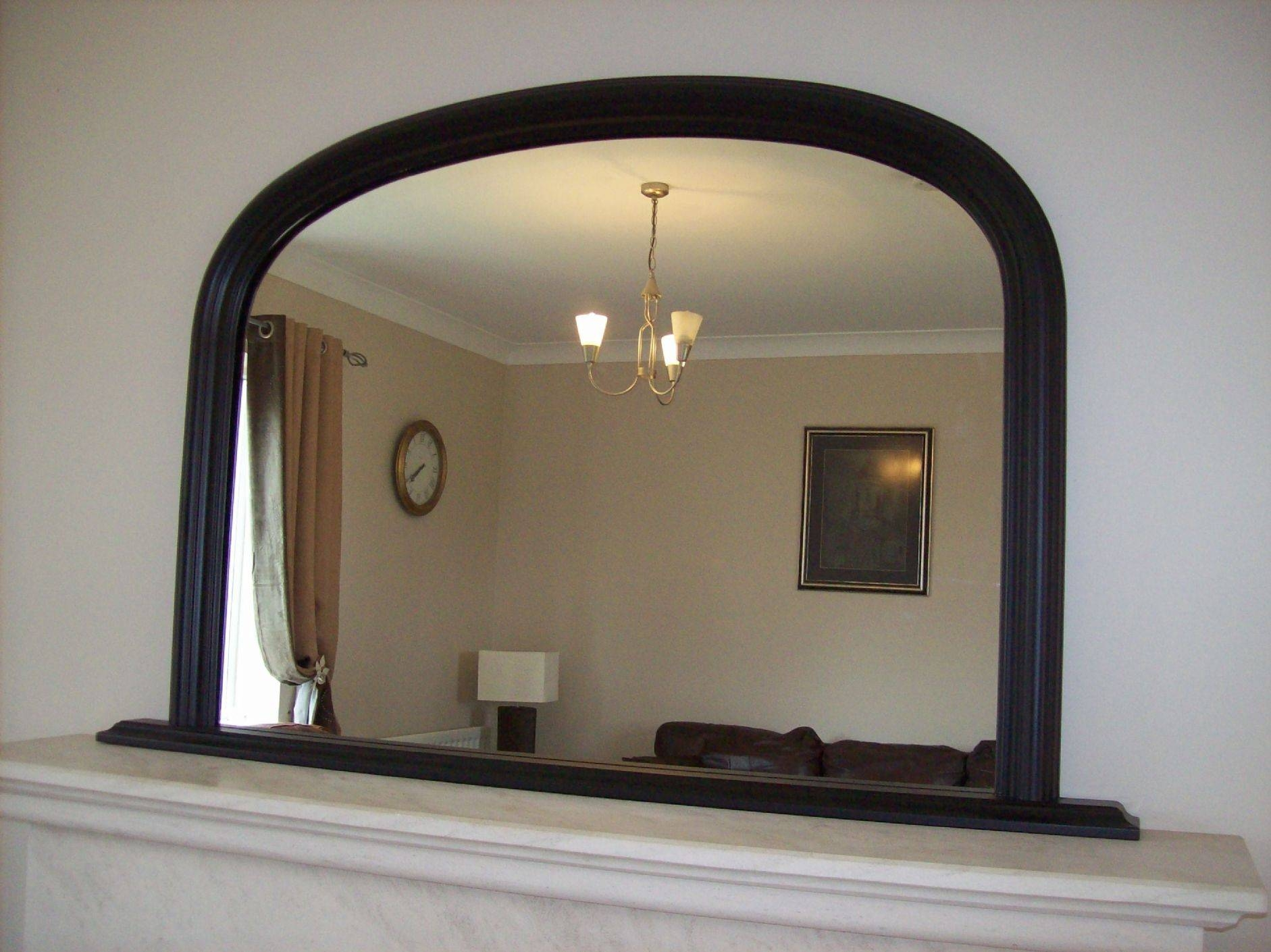 Arched Overmantle Mirror with Over Mantel Mirrors (Image 3 of 15)