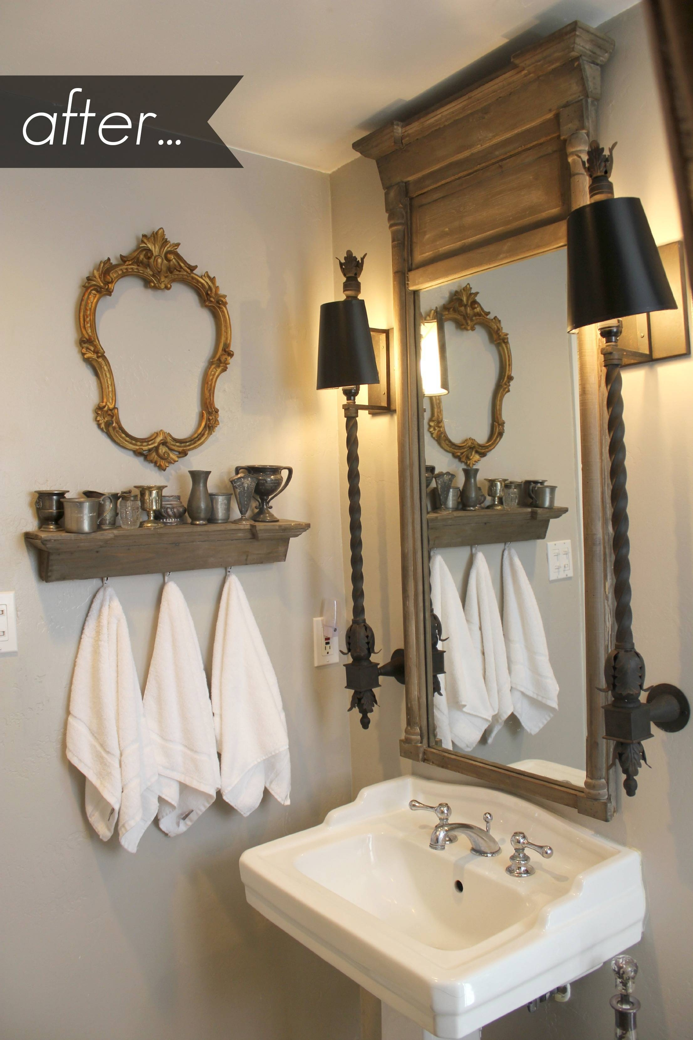Bathroom : Amazing Vintage Mirrors For Bathrooms Artistic Color In Vintage Mirrors For Bathrooms (View 8 of 15)